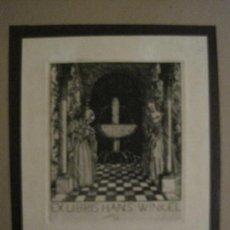 Arte: EX LIBRIS-WILM-GRABADO AGUAFUERTE ORIGINAL-HANS WINKEL-VER FOTOS-(X-2548). Lote 161695906