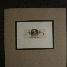 Arte: EX LIBRIS-WILM-GRABADO AGUAFUERTE ORIGINAL-HEDWIG WULFFIUS-VER FOTOS-(X-2549). Lote 161696250