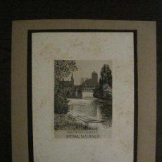 Arte: EX LIBRIS-FFFAHR-GRABADO AGUAFUERTE ORIGINAL-DR PAUL WERNER-VER FOTOS-(X-2550). Lote 161696526
