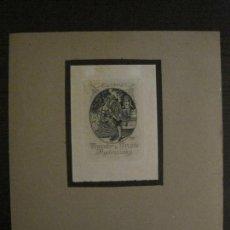Arte: EX LIBRIS-GEORG JILOVSKY-GRABADO AGUAFUERTE ORIGINAL-THEODOR U TRUDE KYCHNOVSKY-VER FOTOS-(X-2551). Lote 161696922