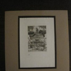 Arte: EX LIBRIS-H.HIRZEL-GRABADO AGUAFUERTE ORIGINAL-D.B.GEHORT DR RUNGE-VER FOTOS-(X-2552). Lote 161697234