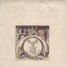Arte: EX-LIBRIS VICENTE BELTRÁN. 12'5X9 (HUELLA GRABADO 4'5X4'5). Lote 162777014