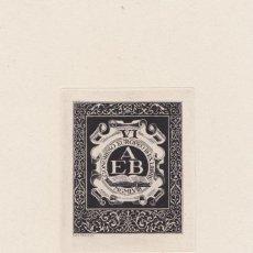 Arte: EX-LIBRIS DE ANTONIO DA CONCEIÇAO PAES FERREIRA PARA AEB VI CONGRESO EUROPEO DE EX-LIBRIS 1958. Lote 171597109