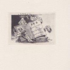 Art: EX-LIBRIS DE LUIS ENRIQUEZ DE NAVARRA Y GALIANO PARA EL VI CONGRESO EUROPEO DE EX-LIBRIS 1958. Lote 171597952