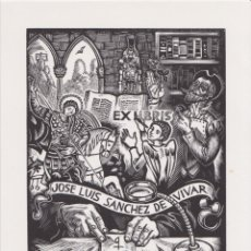 Arte: EX-LIBRIS DE ORIOL Mª DIVI PARA JOSE LUIS SANCHEZ DE VIVAR - 1999 (FIRMA A LLAPIS). Lote 171622743