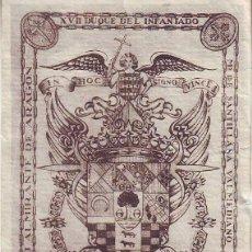 Arte: EX LIBRIS JOAQUÍN ARTEAGA LAZCANO, XVII DUQUE DEL INFANTADO, MARQUÉS DE SANTILLANA, ALMIRANTE ARAGÓN. Lote 171622844