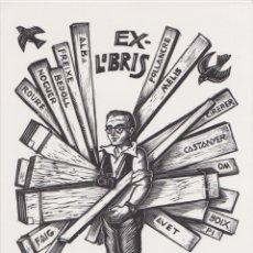 Arte: EX-LIBRIS DE ORIOL Mª DIVI PARA JOAN ALIÓ – 2000 – (FIRMA A LLAPIS). Lote 171624497