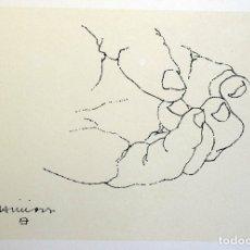 Arte: EDUARDO CHILLIDA - LITOGRAFIA OFFSET 1977 . 34 X 24 CM.. Lote 176180809