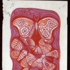 Arte: GIROEXLIBRIS.- EX LIBRIS DE E. LEBERONI PARA MARIA FERNANDA GAÑAN MEDIDAS 9 X 12 CTMS. . Lote 178642625