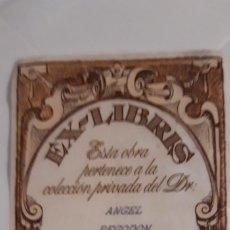 Arte: 1 EX- LIBRIS DE ** DEL DR. ... ** DESPEGADO . Lote 180253902
