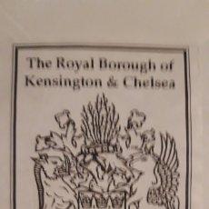 Arte: 1 EX- LIBRIS DE ** THE ROYAL BOROUGH OF KENSINGTON & CHELSEA .. ** DESPEGADO . Lote 180254395