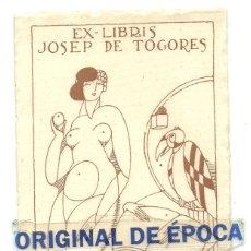 Arte: (PA-191100)EX-LIBRIS DE JOSEP DE TOGORES. Lote 220804190