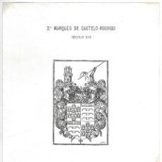 Arte: LÁMINA CON EX- LIBRIS.- 2º MARQUÊS DE CASTELO- RODRIGO- 1927. Lote 182282167
