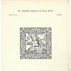 Arte: LÁMINA CON EX- LIBRIS.- EDUARDO AUGUSTO DA SILVA NEVES. LISBOA. SIGLO XX- 1927. Lote 182283656