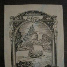 Arte: EX LIBRIS-LOUIS J.SILVER-SILVER'33-BARCO-VER FOTOS-(X-2592). Lote 182320877