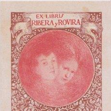 Arte: EX-LIBRIS DE ANTONIO TEIXEIRA CARNEIRO PARA IGNASI DE LOYOLA RIBERA I ROVIRA - 1908. Lote 182515413