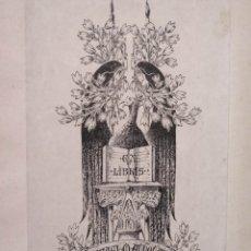 Arte: EXLIBRIS DE RAFAEL M. AUDOUARD EN LIBRO EL OJO DEL GUATAMAEX LIBRIS. Lote 183016741