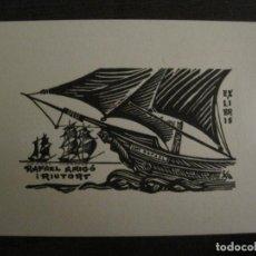 Arte: EX LIBRIS-RAFAEL AMIGO RIUTORT-FA-VER FOTOS-(X-2665). Lote 183712540