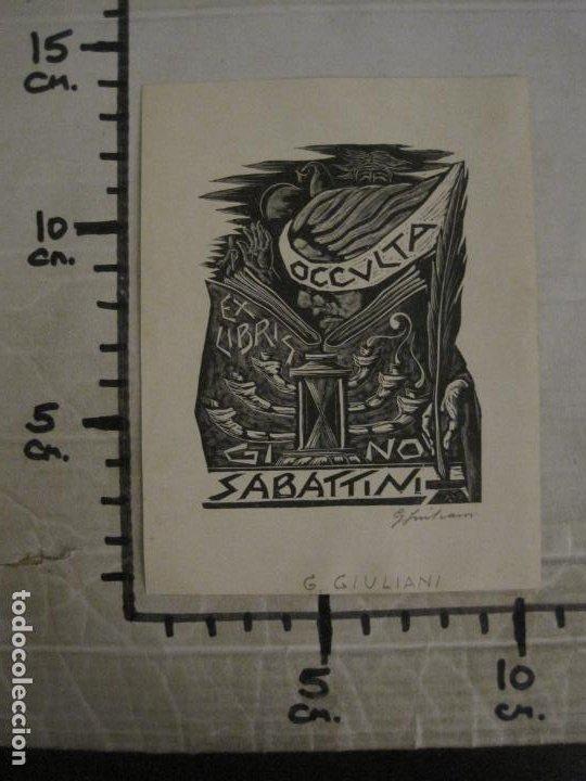 Arte: EX LIBRIS-OCCULTA-GI NO-SABATTINI-G.GIULANI-VER FOTOS-(X-2667) - Foto 4 - 183712783