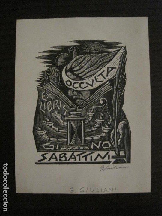 EX LIBRIS-OCCULTA-GI NO-SABATTINI-G.GIULANI-VER FOTOS-(X-2667) (Arte - Ex Libris)