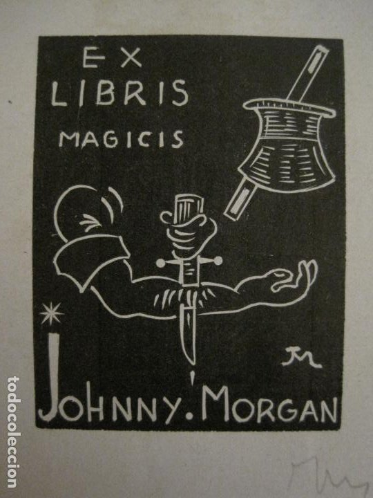 Arte: EX LIBRIS-MAGICIS-JOHNNY MORGAN-VER FOTOS-(X-2671) - Foto 2 - 183713945