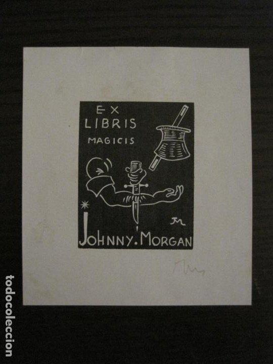 EX LIBRIS-MAGICIS-JOHNNY MORGAN-VER FOTOS-(X-2671) (Arte - Ex Libris)