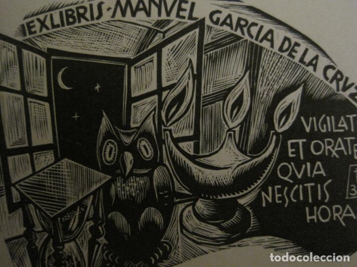 Arte: EX LIBRIS-MANUEL GARCIA DE LA CRUZ-VER FOTOS-(X-2678) - Foto 2 - 183714330