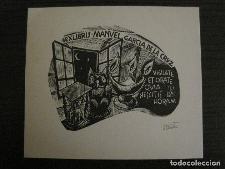 EX LIBRIS-MANUEL GARCIA DE LA CRUZ-VER FOTOS-(X-2678) (Arte - Ex Libris)