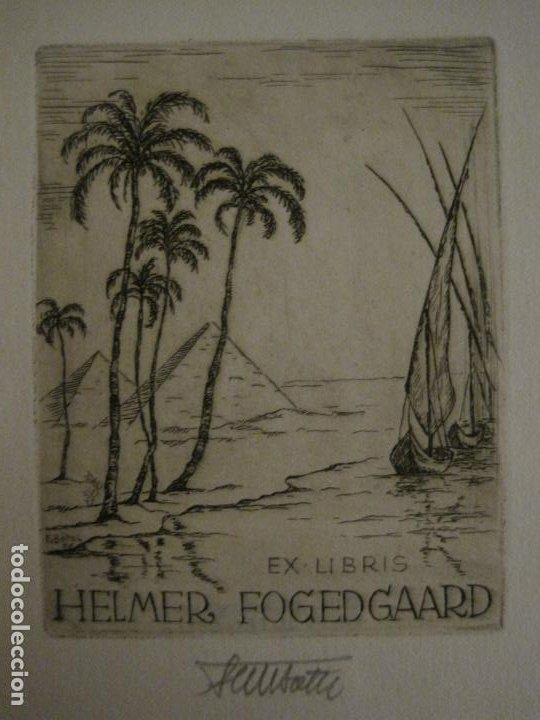 Arte: EX LIBRIS-HELMER FOGEDGAARD-F. BOTEL-VER FOTOS-(X-2675) - Foto 2 - 183714536