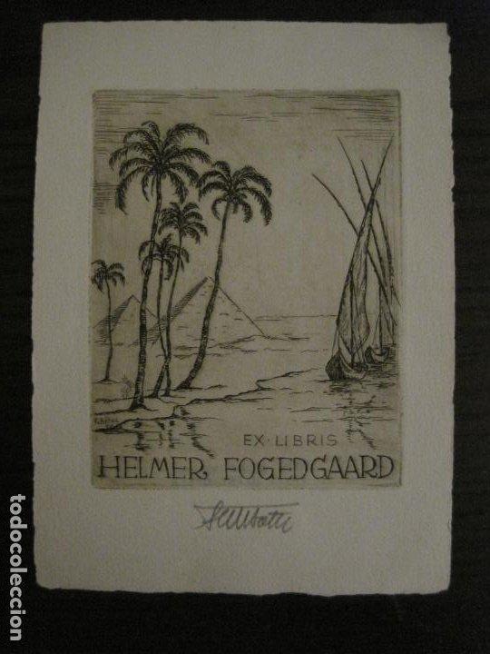 EX LIBRIS-HELMER FOGEDGAARD-F. BOTEL-VER FOTOS-(X-2675) (Arte - Ex Libris)