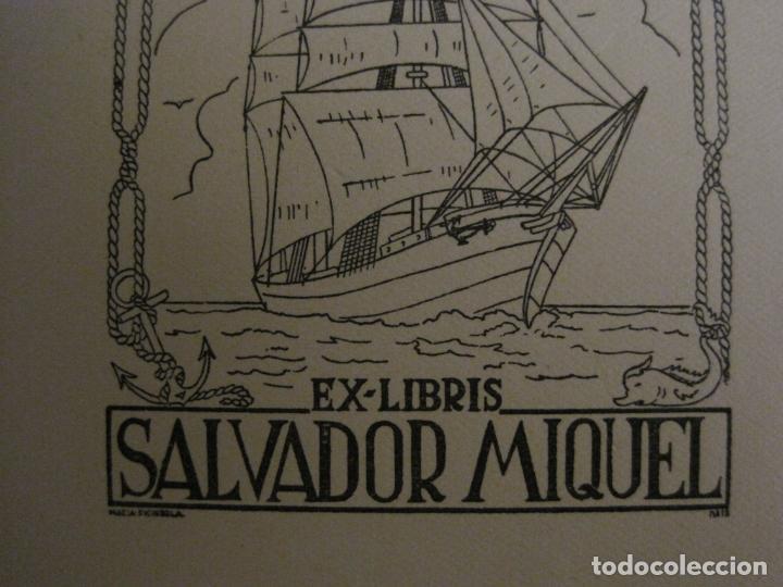 Arte: EX LIBRIS-SALVADOR MIQUEL-MARIA FIGUEROLA-VER FOTOS-(X-2684) - Foto 3 - 183715933