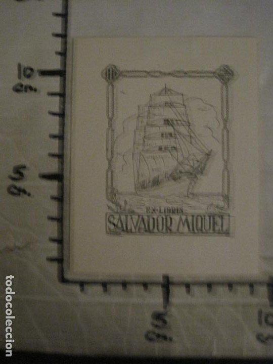 Arte: EX LIBRIS-SALVADOR MIQUEL-MARIA FIGUEROLA-VER FOTOS-(X-2684) - Foto 6 - 183715933