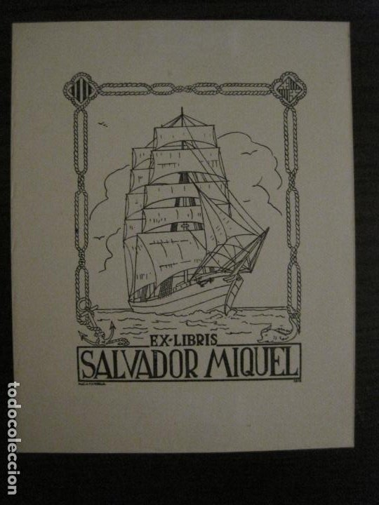 EX LIBRIS-SALVADOR MIQUEL-MARIA FIGUEROLA-VER FOTOS-(X-2684) (Arte - Ex Libris)