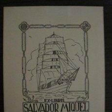 Arte: EX LIBRIS-SALVADOR MIQUEL-MARIA FIGUEROLA-VER FOTOS-(X-2684). Lote 183715933