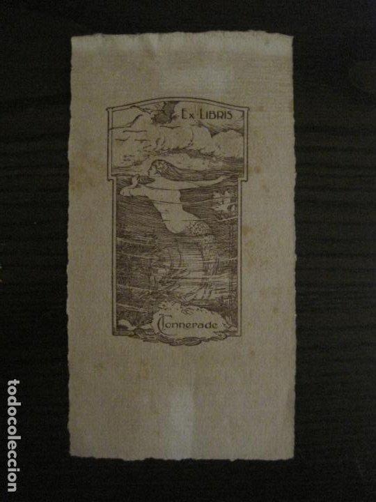 EX LIBRIS-J.CONNERADE-WERNAERS-VER FOTOS-(X-2685) (Arte - Ex Libris)