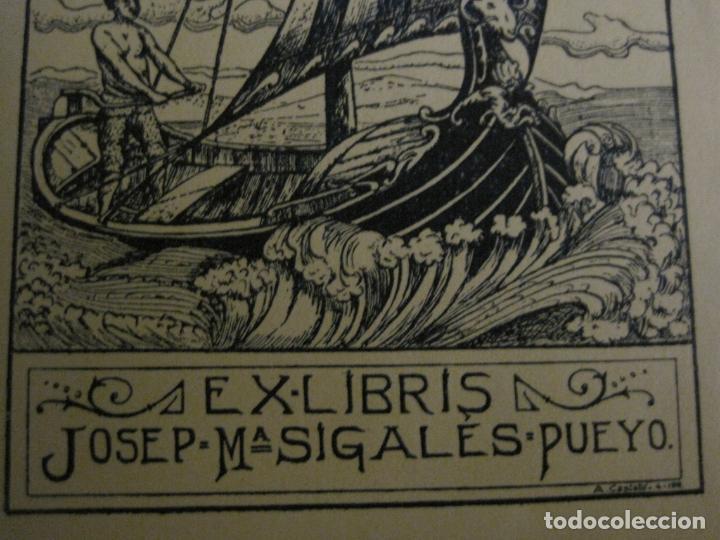 Arte: EX LIBRIS-JOSEP Mª SIGLES PUEYO-A. CASTELLO-VER FOTOS-(X-2687) - Foto 3 - 183716355