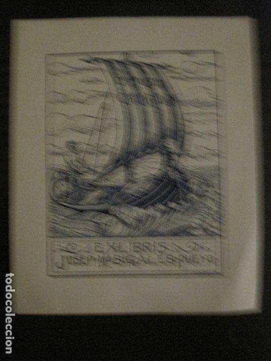 EX LIBRIS-JOSEP Mª SIGLES PUEYO-A. CASTELLO-VER FOTOS-(X-2687) (Arte - Ex Libris)