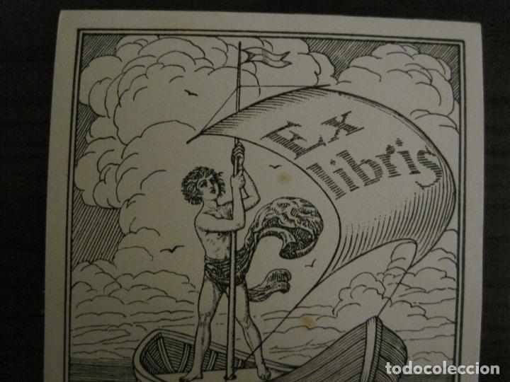 Arte: EX LIBRIS-H.STEINDLER-JILOVSKY-VER FOTOS-(X-2688) - Foto 2 - 183716477