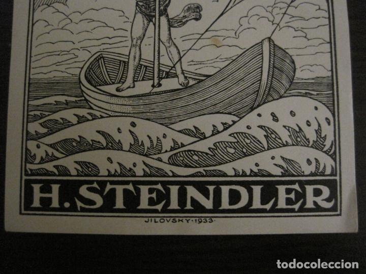 Arte: EX LIBRIS-H.STEINDLER-JILOVSKY-VER FOTOS-(X-2688) - Foto 3 - 183716477