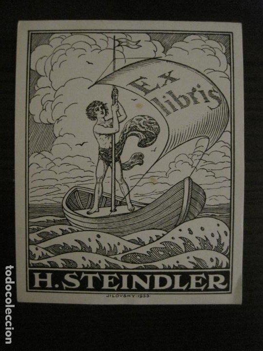 EX LIBRIS-H.STEINDLER-JILOVSKY-VER FOTOS-(X-2688) (Arte - Ex Libris)