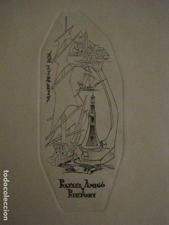 Arte: EX LIBRIS-RAFAEL AMIGO I RIUTORT-ALPRESA-GRABADO-VER FOTOS-(X-2692) - Foto 2 - 183720870