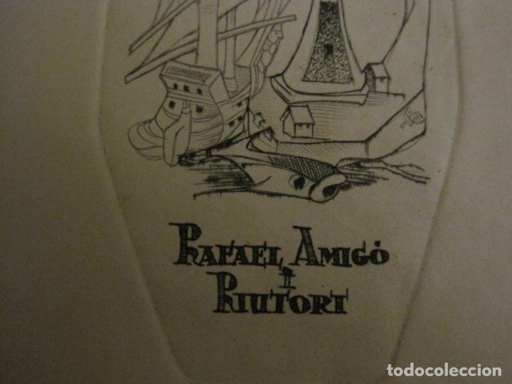 Arte: EX LIBRIS-RAFAEL AMIGO I RIUTORT-ALPRESA-GRABADO-VER FOTOS-(X-2692) - Foto 4 - 183720870