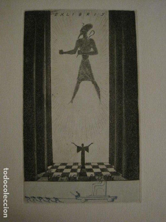 Arte: EX LIBRIS-VICENS BOSCH-GRABADO-VER FOTOS-(X-2694) - Foto 2 - 183721135