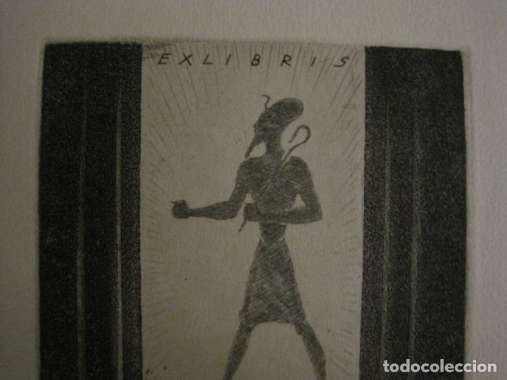 Arte: EX LIBRIS-VICENS BOSCH-GRABADO-VER FOTOS-(X-2694) - Foto 3 - 183721135
