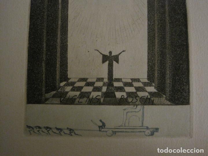 Arte: EX LIBRIS-VICENS BOSCH-GRABADO-VER FOTOS-(X-2694) - Foto 4 - 183721135