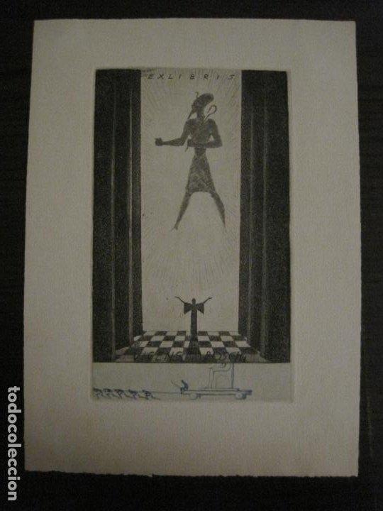EX LIBRIS-VICENS BOSCH-GRABADO-VER FOTOS-(X-2694) (Arte - Ex Libris)