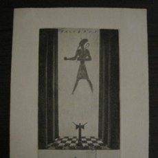 Arte: EX LIBRIS-VICENS BOSCH-GRABADO-VER FOTOS-(X-2694). Lote 183721135