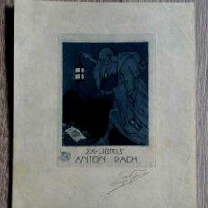 Arte: EX LIBRIS - ANTON PACH - Nº 47 - AGUAFUERTE. Lote 184195155