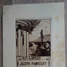 Arte: EX LIBRIS - JOSEPH FABREGAT - AGUAFUERTE - L. ROQUE . Lote 184196161
