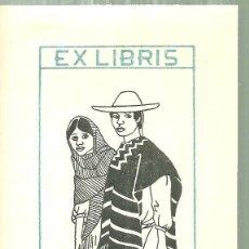 Arte: C1.- EXLIBRIS DE E.NICOLAU DIBUJO DE CARME MILLÀ. Lote 184990257